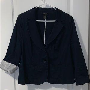 Lane Bryant navy blue 3/4 sleeve blazer